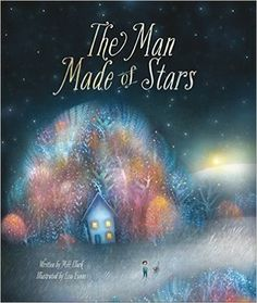 """2015 Moonbeam Medalist - Best Illustrator. """"The man made of stars is hard at work every night, bringing more and more light to the world, bit by bit. But what is his secret, and where does he go every evening when he walks out past town with his lantern twinkling? This is the story of one curious child who, determined to come up with an answer to this mystery, discovers something incredible about himself..."""" @iliveinspired"""