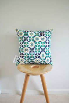 This uniquely patterned cushion from CharleeLeMore looks inspirationally comfortable....!
