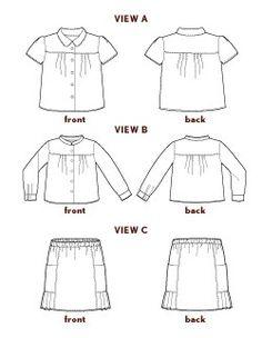 music class blouse + skirt sewing pattern