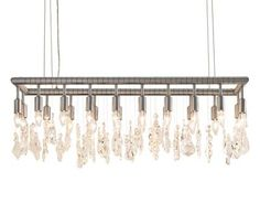 Cellula Rectangular Chandelier Like jewelry for the dining table !