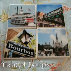 Check out this item in my Etsy shop https://www.etsy.com/listing/124842889/new-orleans-coaster-set-set-of-4