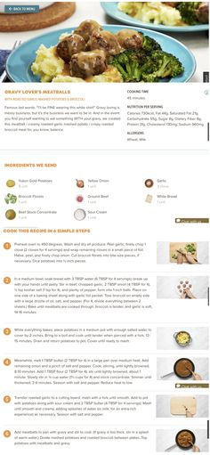 Best Beef Recipes, Great Recipes, Cooking Recipes, Meatballs And Gravy, Dinner Ideas, Dinner Recipes, Easy College Meals, Hello Fresh Recipes, Lunches And Dinners