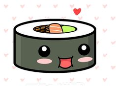 Cute kawaii sushi by on DeviantArt Kawaii Anime, Arte Do Kawaii, Kawaii Art, Png Kawaii, Cute Food Drawings, Cute Kawaii Drawings, Kawaii Doodles, Kawaii Stickers, Cute Stickers