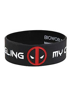 Marvel Deadpool Common Sense Rubber Bracelet,