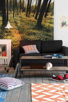 4040 Locust Heritage Rolling Coffee Table #urbanoutfitters