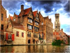 Bruges, Belgium one of the only cities not destroyed in the war. <3