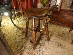 Victorian Kitchen Stool.