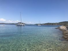 Luka Zut @ Zut Island - Croatia: Very beautiful and big bay with crystal clear waters! Jetty, mooring, anchor? You choose... Konoba Festa is pricey but worth to try.