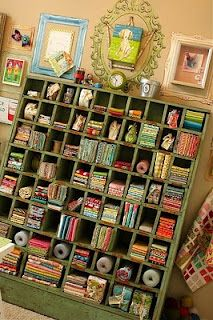 Cubicles for stash...  I need to build something like this for my crafty stuff.