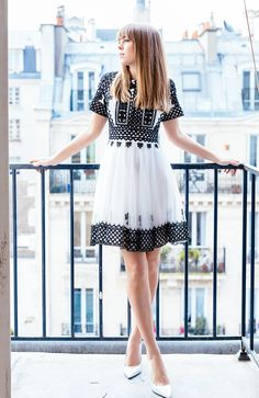 modern dress with classic shoes