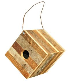Reclaimed Wood Birdhouse | With spring just around the corner, set up a birdhouse in preparation for all of the avian visitors that will be flying by.