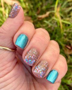 Nail Color Combos, Nail Polish Colors, Nail Polishes, Manicures, Pretty Nail Colors, Pretty Nails, Baby Blue Nails, Cute Gel Nails, Gel Nail Art Designs
