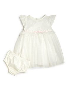 Miniclasix - Infant's Two-Piece Lace & Tulle Dress & Bloomers Set