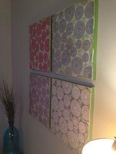 DIY wall art! so easy and cheap!