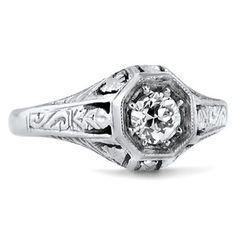 Gabi ring, .32 ct diamond, 18k gold  Brilliant Earth, $3170