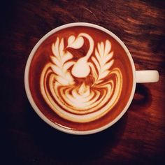 Just swanning around. #latteart #coffee