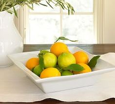 Wouldn't fruit in this square serving bowl look great on your kitchen counter?