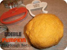 Fall Crafts for Kids: Edible Pumpkin Playdough Recipe