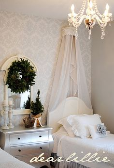 Like the Valance above the bed- nice room