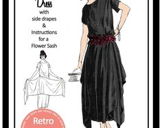 1920s Evening Dress Sewing Pattern - Paper Version