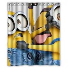 Fun Minion Shower Curtain -