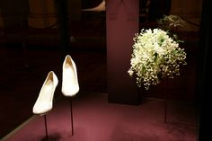 The Duchess of Cambridge's wedding shoes and bouquet by The British Monarchy, via Flickr
