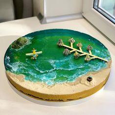 Island Cake, Jello Cake, Beach Cakes, Modern Cakes, Gateaux Cake, Mermaid Cakes, Colorful Cakes, Paradise Island, Creative Cakes
