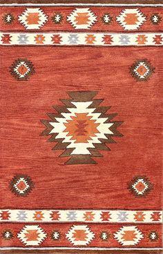 Savanna Southwestern VE04 Wine Rug   Contemporary Rugs #RugsUSA