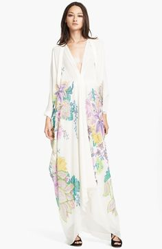 I love this dress! Roberto Cavalli 'Surya Print' Silk Georgette Gown available at #Nordstrom
