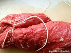 How To Trim A Whole Beef Tenderloin For The Holidays (Northwest Edible Life) Whole Beef Tenderloin, A Food, Good Food, Filet Mignon Steak, Bearnaise Sauce, Steak Cuts, Meat Recipes, Holidays, Steaks