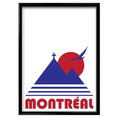Montreal Vintage Screen Print Poster - Main and Local