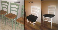 dining room chair makeover :D