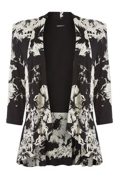 Large Floral Peplum Blazer - at Roman Originals