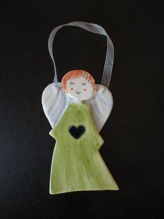 Ceramic AngelCeramic Angel OrnamentGuardian by TatjanaCeramics