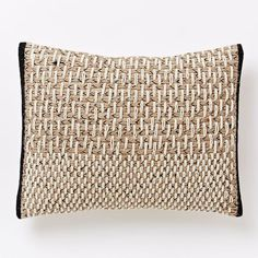 "Basketweave Pillow Cover | west elm - 12"" x 16"" - $44 (less 20% is $35.20) + insert is $10 (less 20% is $8)"