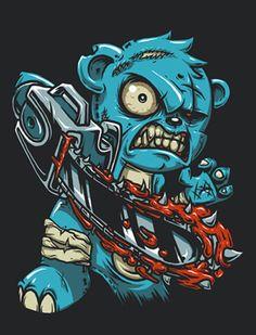 care bear x evildead by chibogfud on DeviantArt Graffiti Doodles, Graffiti Art, Bear Illustration, Graphic Design Illustration, Evil Teddy Bear, Teddy Bear Tattoos, Teddy Bear Drawing, Zombie Art, Zombie Cartoon