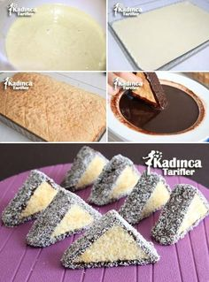 Üçgen Kek Tarifi, Nasıl Yapılır - My Happy Healthy Living - galletas - Las recetas más prácticas y fáciles Cake Recipes, Dessert Recipes, Kolaci I Torte, Flaky Pastry, Mince Pies, Recipe Sites, Recipe Recipe, Breakfast Buffet, Turkish Recipes