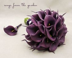 Real Touch Calla Lily Bridal Bouquet Groom's Boutonniere in ...