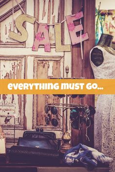 Everything must go sale. Easy to edit template. Everything Must Go, Sale Poster, Marketing Materials, Design Templates, Creative, Artist, Image, Facebook, Instagram