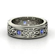 This with Scott's birthstone might be an awesome wedding band :) ~$679 with silver and green tourmaline