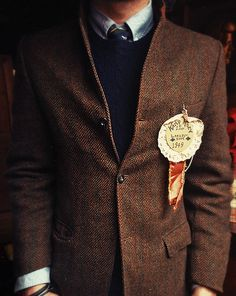 Tweed and wool and tie