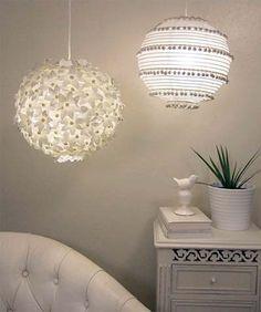 Luminária de papel: http://www.comofazeremcasa.net/artesanato/como-fazer-luminaria-de-papel-de-arroz/