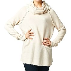 Women's Cozy French Terry Pullover Sweatshirt Sweater * More info could be found at the image url. (This is an affiliate link) #Sweaters
