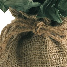 """11""""x9""""x6"""" Burlap Round Bags Pack of 10 Pieces"""