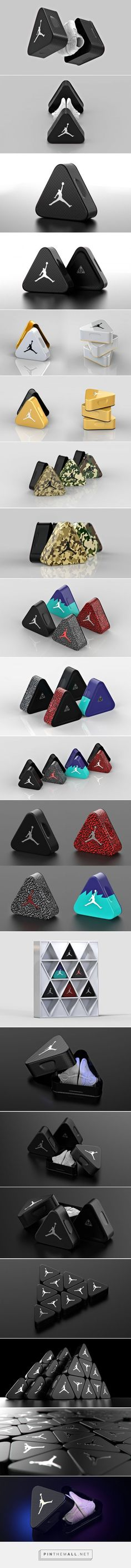 Air Jordan Triangle Shoe box concept packaging by Tomislav Zvonaric - http://www.packagingoftheworld.com/2017/06/air-jordan-triangle-aluminum-shoebox.html: