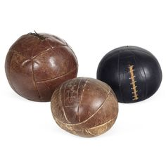 Antique and Vintage Sports Equipment and Memorabilia - For Sale at Sports Equipment, No Equipment Workout, The Sporting Life, Mocha Chocolate, Ball Decorations, Athletic Gear, Medicine Ball, Displaying Collections, Decorative Objects