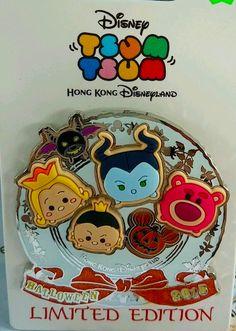 New Tsum Tsum Halloween Pins at Hong Kong Disneyland!