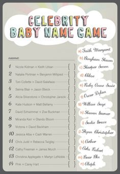 14 Printable Baby Shower Games That Are Fun To Play! - Tip Junkie