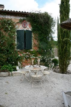 French bistro set in garden
