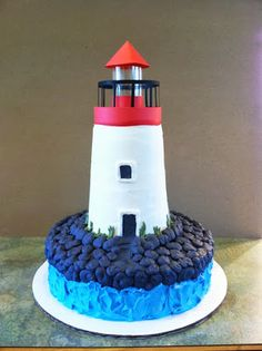 Lighthouse Cake - Party Cakes by Amy